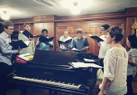 Rehearsing at Yale with Audivi